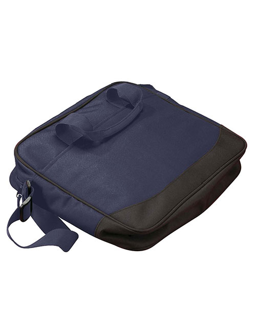 Big Accessories / BAGedge XVP Bagedge Zippered Portfolio NAVY/BLACK at GotApparel