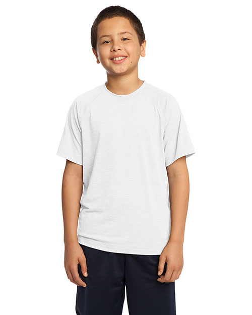 Sport-Tek YST700  Youth Ultimate Performance Crew White at GotApparel