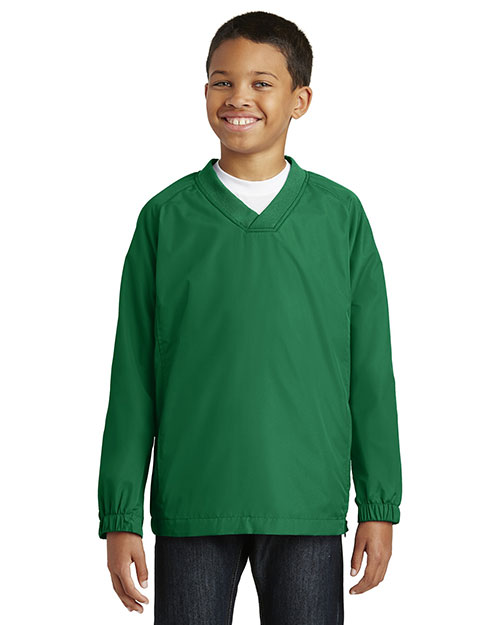 Sport-Tek® YST72 Boys V-Neck Raglan Wind Shirt at GotApparel