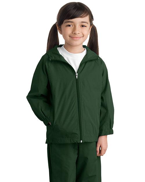 e1080b84a Sport-Tek YST73 Girls Hooded Raglan Jacket | GotApparel.com