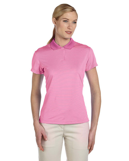 Adidas Golf A120 Women's climalite® Classic Stripe Short-Sleeve Polo at GotApparel