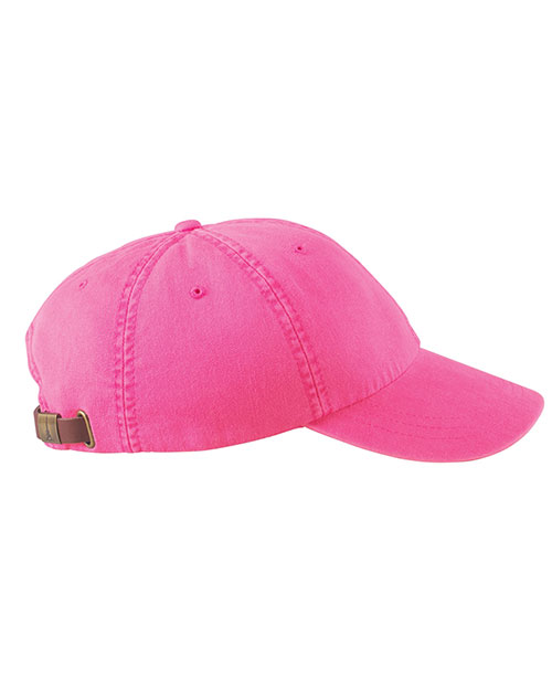 Adams AD969 6-Panel Low-Profile Washed Pigment-Dyed Cap Hot Pink at GotApparel