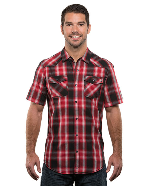 Burnside B9206  S Plaid Pattern Western Woven at GotApparel