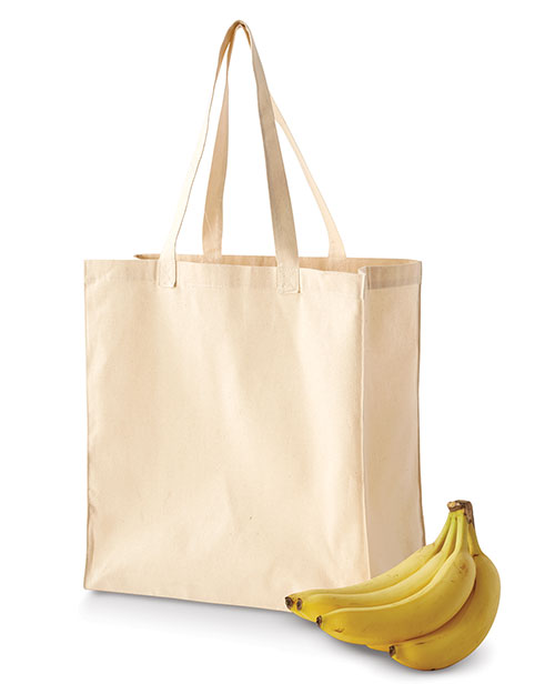 Bagedge BE055 Unisex Canvas Grocery Tote Bag at GotApparel
