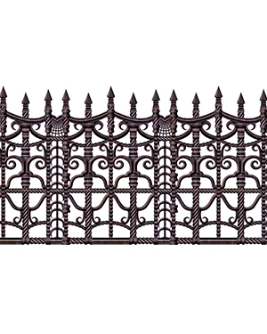 Halloween Costumes BG00908 Unisex Creepy Fence Border at GotApparel