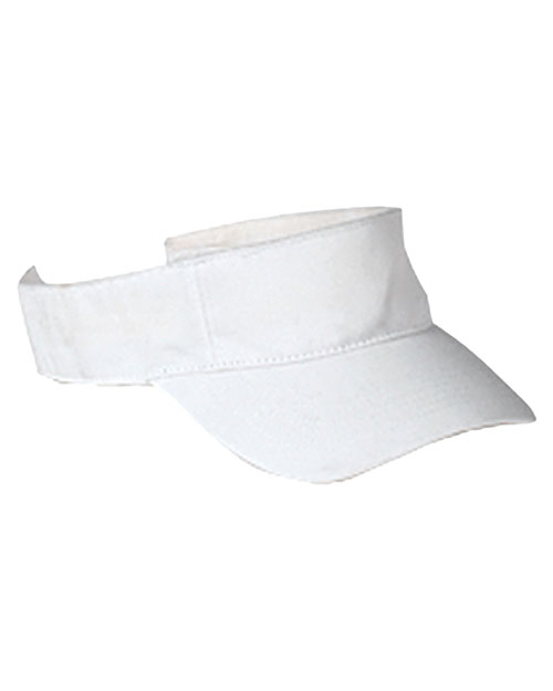 Big Accessories / BAGedge BX006 Unisex Cotton Twill Visor at GotApparel