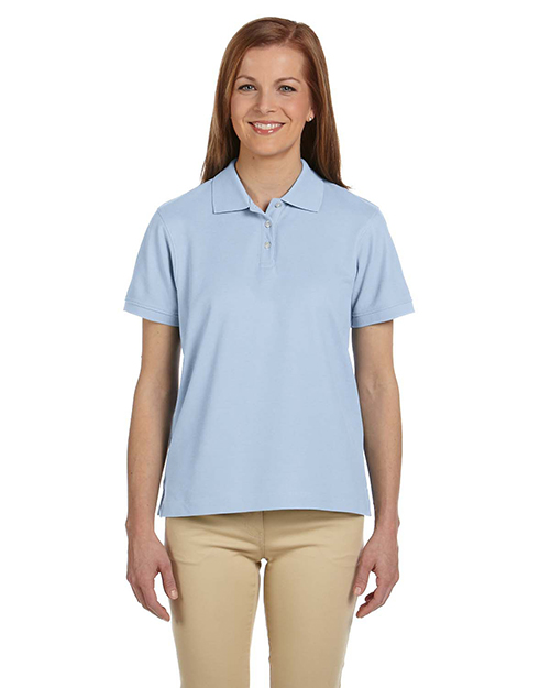 Devon & Jones D112W Women's Pima Pique Short-Sleeve Polo at GotApparel