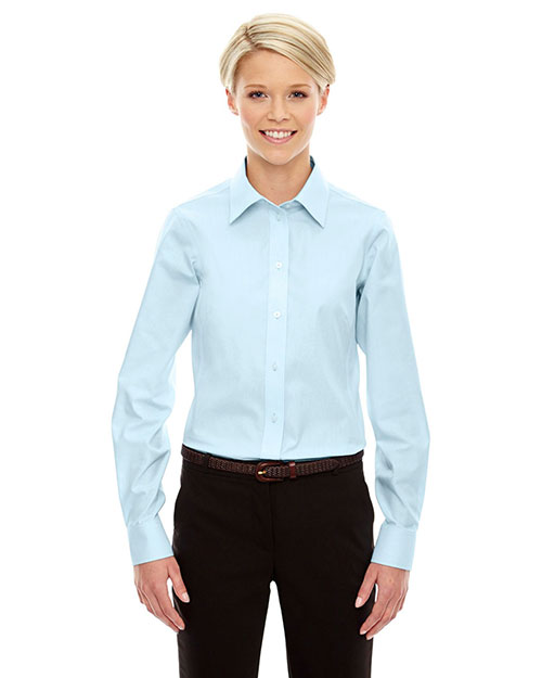 Devon & Jones Classic D630W Women Crown Collection  Solid Oxford at GotApparel