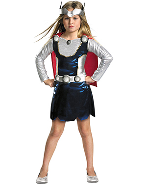 Halloween Costumes DG25867M Girls Thor Girl 3t-4t As Shown at GotApparel