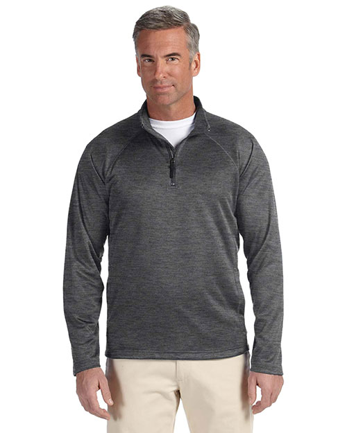 Devon & Jones Classic DG440 Men Stretch Tech-Shell  Compass Quarter-Zip at GotApparel