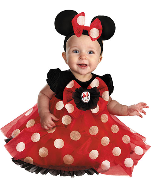 Halloween Costumes DG44958W Girls Minnie Infants Red 12-18 Months at GotApparel