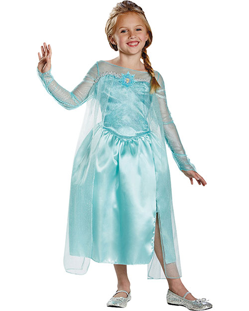 Halloween Costumes DG76906L Girls Frozen Elsa Snow Queen 4-6 at GotApparel