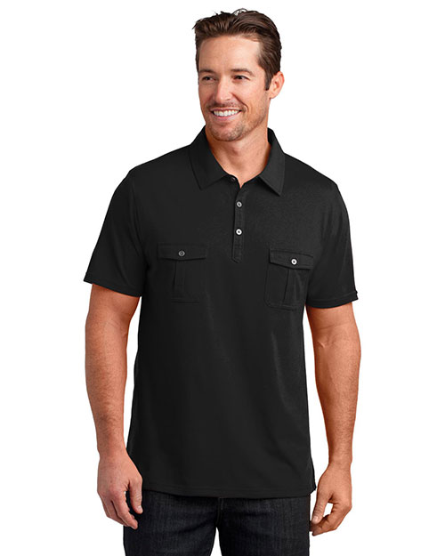 District Made DM333 Men Double Pocket Polo at GotApparel