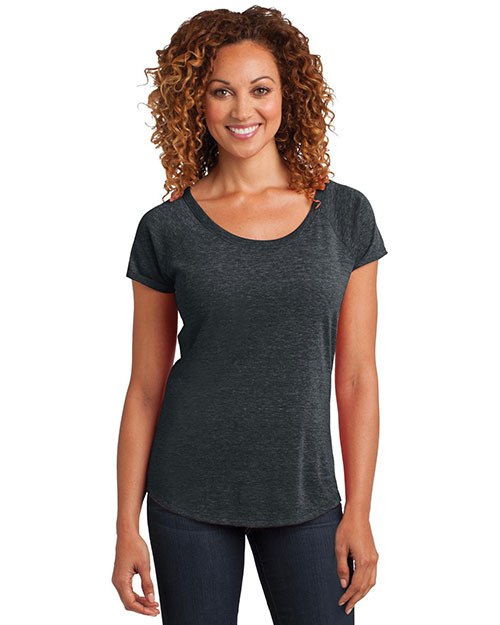 District Made DM443 Women Tri-Blend Scoop Tee at GotApparel