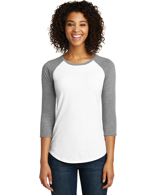 District Juniors DT6211 Women Very Important Tee 3/4-Sleeve Raglan at GotApparel
