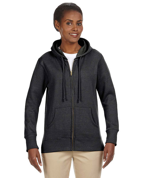 Custom Embroidered Econscious EC4580 Women 7 Oz. Organic/Recycled Heathered Fleece Full-Zip Hood at GotApparel