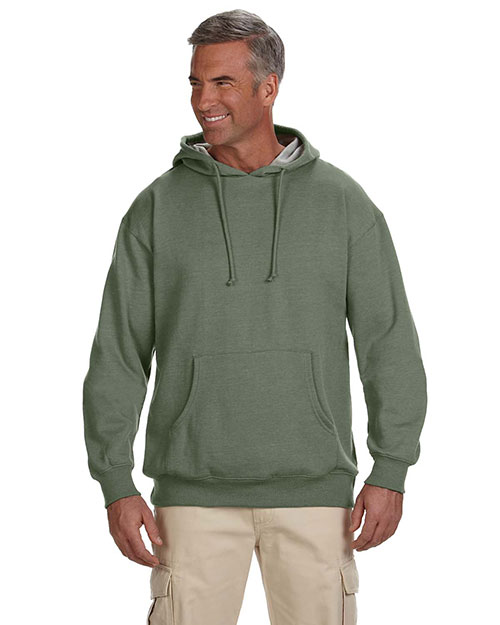 Custom Embroidered Econscious EC5570 Adult 7 Oz. Organic/Recycled Heathered Fleece Pullover Hood at GotApparel