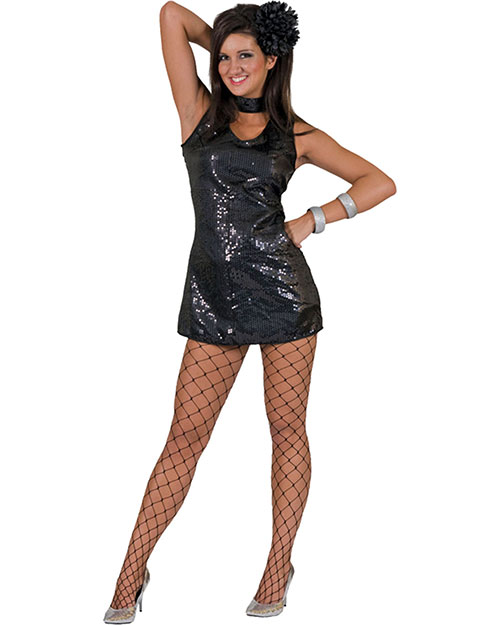 Halloween Costumes FF782775LG Women Disco Dress Black Large at GotApparel