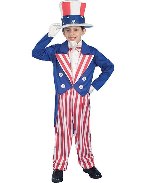 Halloween Costumes FM56684MD Boys Uncle Sam Child Md 8-10 at GotApparel