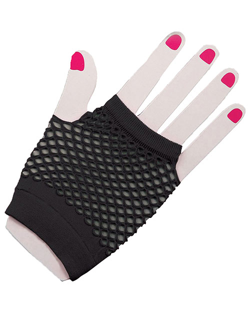 Halloween Costumes FM63022 Unisex Gloves Fingerles Fishnet Black at GotApparel