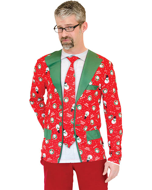 Halloween Costumes FR130557MD Men Ugly Christmas Suit Tie Md at GotApparel