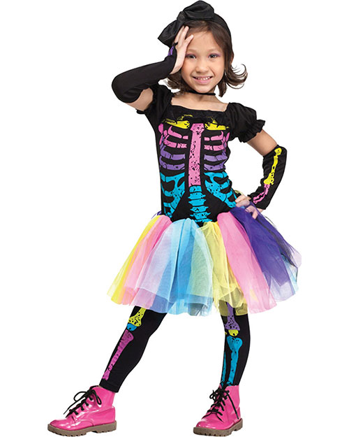 Halloween Costumes FW112591TS Funky Punky Bones Tdlr Sm 24-2 As Shown at GotApparel