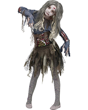 Morris Costumes FW114532MD Zombie Child 8-10 at GotApparel