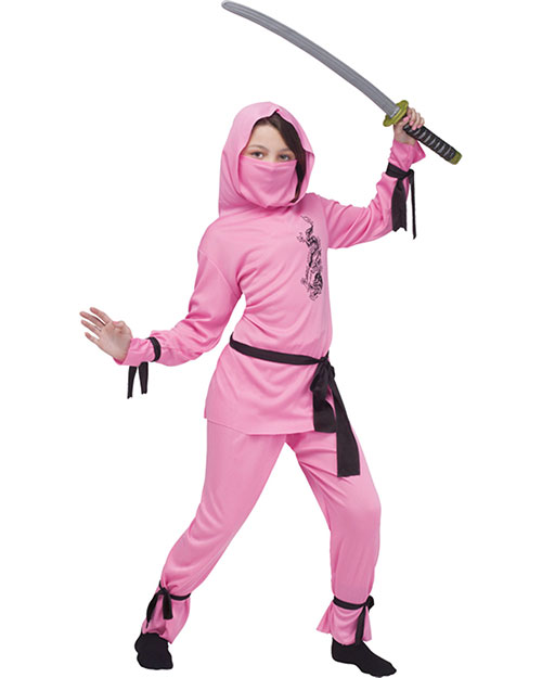 Halloween Costumes FW8708PKSM Pink Ninja Child Small 4-6 As Shown at GotApparel