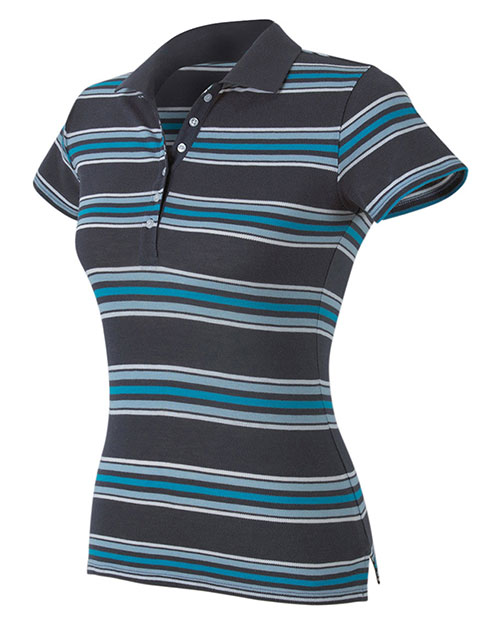 Hyp Sportswear HY123 Women's Newport Sheer Polo In Solid Or Stripe at GotApparel