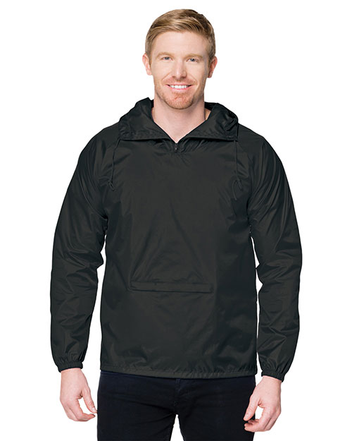 Tri-Mountain J1005 Men Packable Pullover Hooded Anorak Jacket at GotApparel