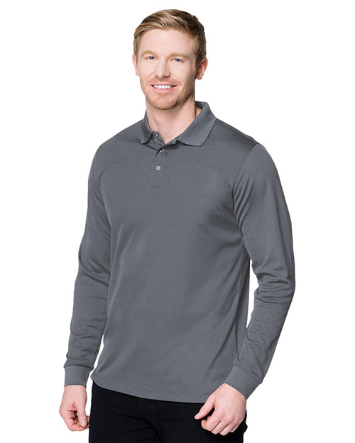 Tri-Mountain K022LS Men Vital Long-Sleeve Snap Polo Shirt at GotApparel