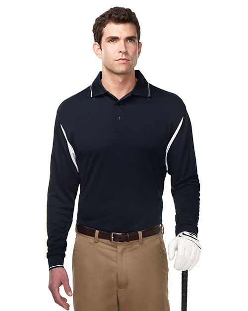 TM Performance K118LS Men's Action Long-Sleeve Waffle Knit Shirt at GotApparel