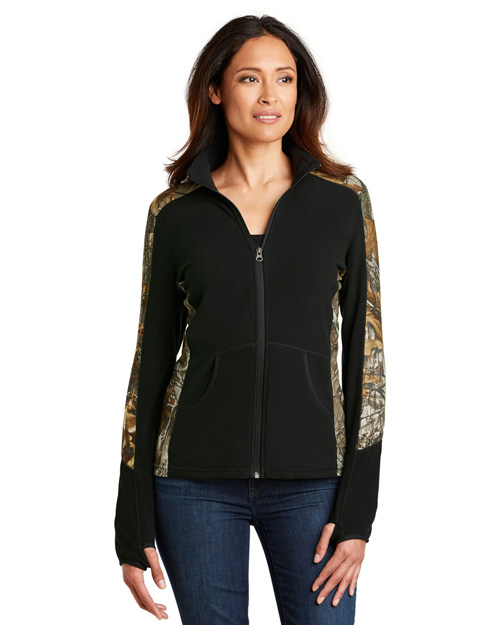 Port Authority L230C Women Camouflage Microfleece Full-Zip Jacket at GotApparel