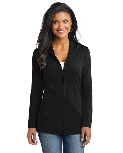 Port Authority L519 Women Modern Stretch Cotton Full-Zip Jacket at GotApparel