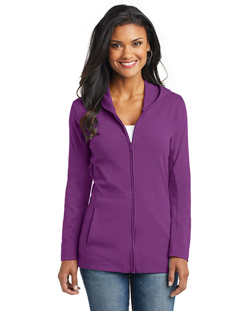 Port Authority L519 Women Modern Stretch Cotton Full Zip Jacket at GotApparel