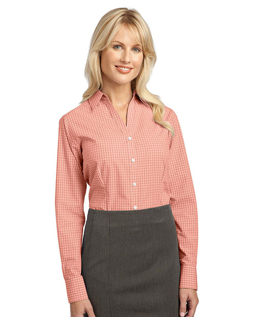 Port Authority L639 Women Plaid Pattern Easy Care Shirt at GotApparel