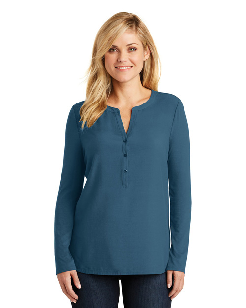Port Authority LK5432 Women Henley Tunic at GotApparel
