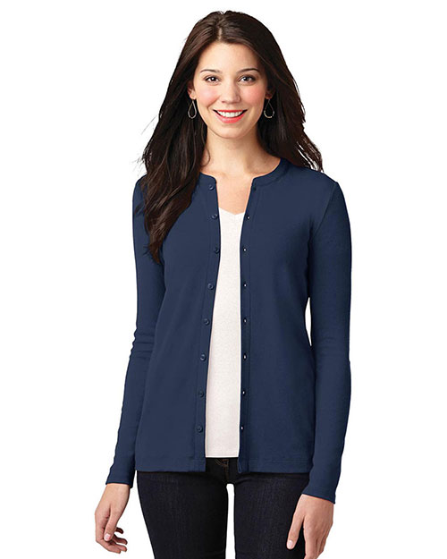Port Authority LM1008 Women Concept Stretch Button-Front Cardigan at GotApparel