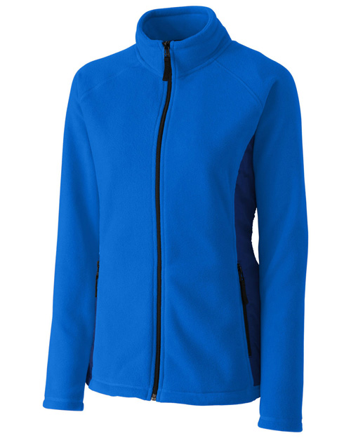 Clique New Wave LQO00043 Women Summit Microfleece Hybrid Full-Zip at GotApparel