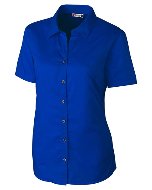 Clique New Wave LQW00008 Women Short-Sleeve Avesta Lady Stain-Resistant Twill at GotApparel