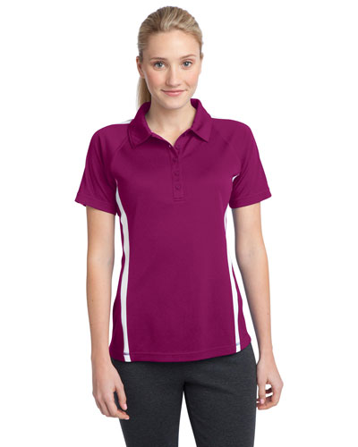 Sport-Tek® LST685 Women PosiCharge®   Micromesh Colorblock Polo at GotApparel