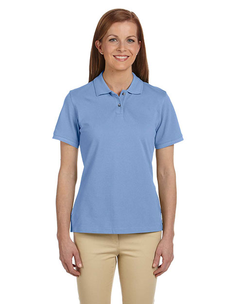 Harriton M200W Women 6 Oz. Ringspun Cotton Pique Short-Sleeve Polo at GotApparel