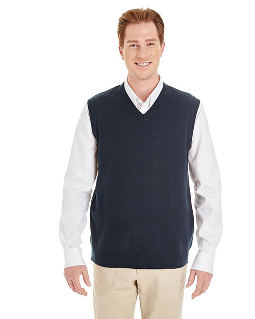 Harriton M415 Men Pilbloc  V-Neck Sweater Vest at GotApparel