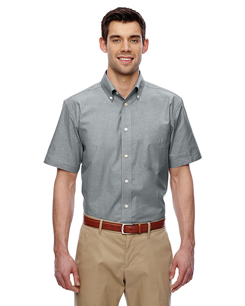 Harriton M600S Men short sleeve Oxford with StainRelease at GotApparel