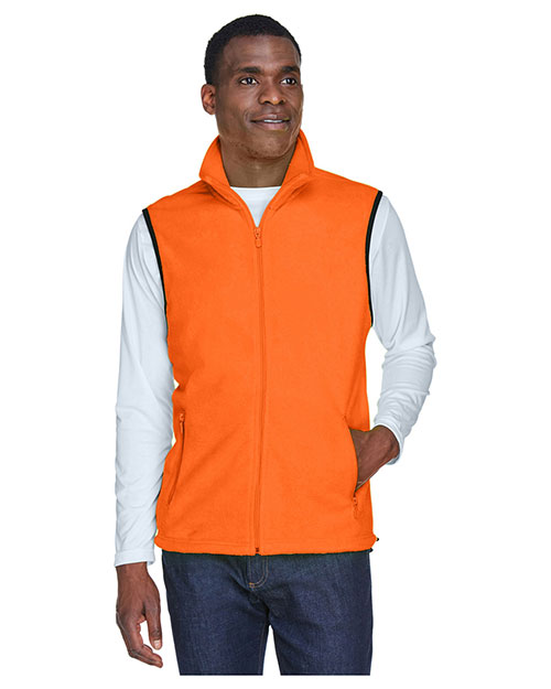 Harriton M985 Men 8 oz. Fleece Vest at GotApparel