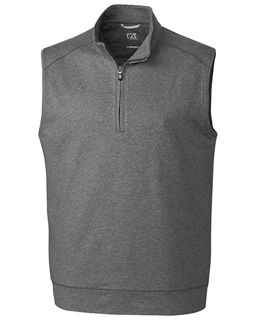 Cutter & Buck MCK09420 Men Shoreline Half Zip Vest at GotApparel