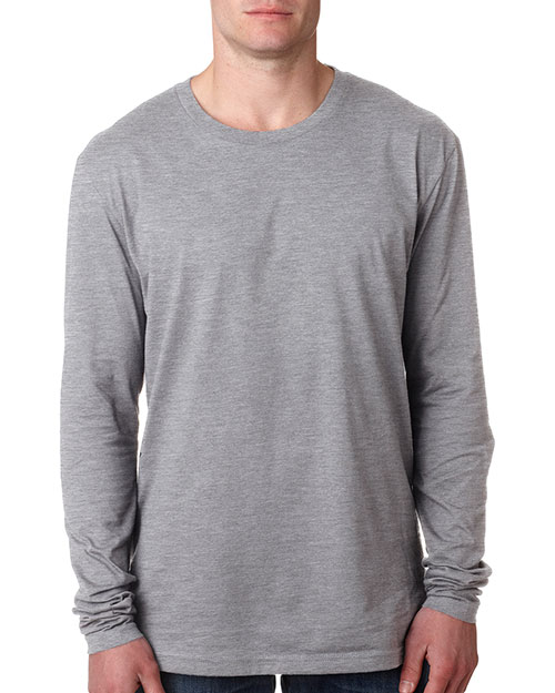 Next Level N3601 Men Premium Fitted Long-Sleeve Crew Tee at GotApparel