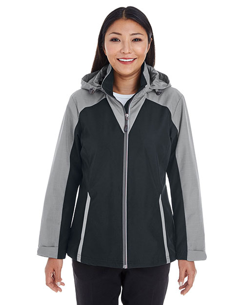 Ash City NE700W Women Embark Interactive Colorblock Shell With Reflective Printed-Panels at GotApparel