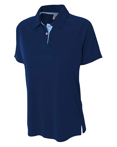 A4 NW3293 Women Interlock Contrast Polo at GotApparel