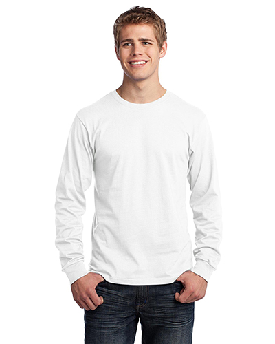 Port & Company PC54LS Men Long-Sleeve 5.4 Oz 100% Cotton T-Shirt at GotApparel